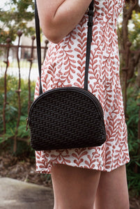 Two Zip Woven Bag (Multiple Colors)