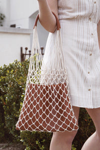 Net Leather Bag