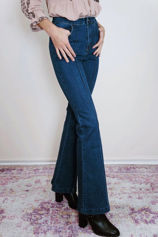 Front Seam Flare Denim