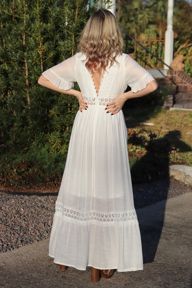 Katarina Lace Trim Maxi Dress