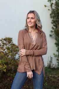 Harmony Taupe Knit Top