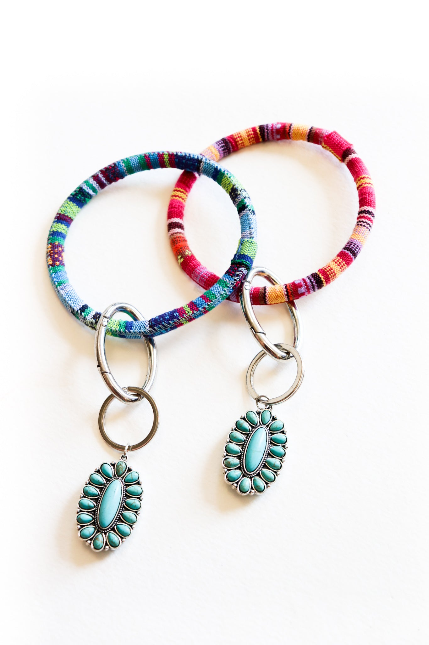 Serape Key Rings (Multiple Colors)