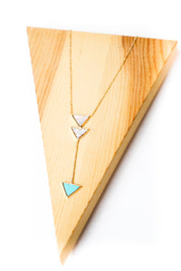 Dainty Triple Triangle Necklace