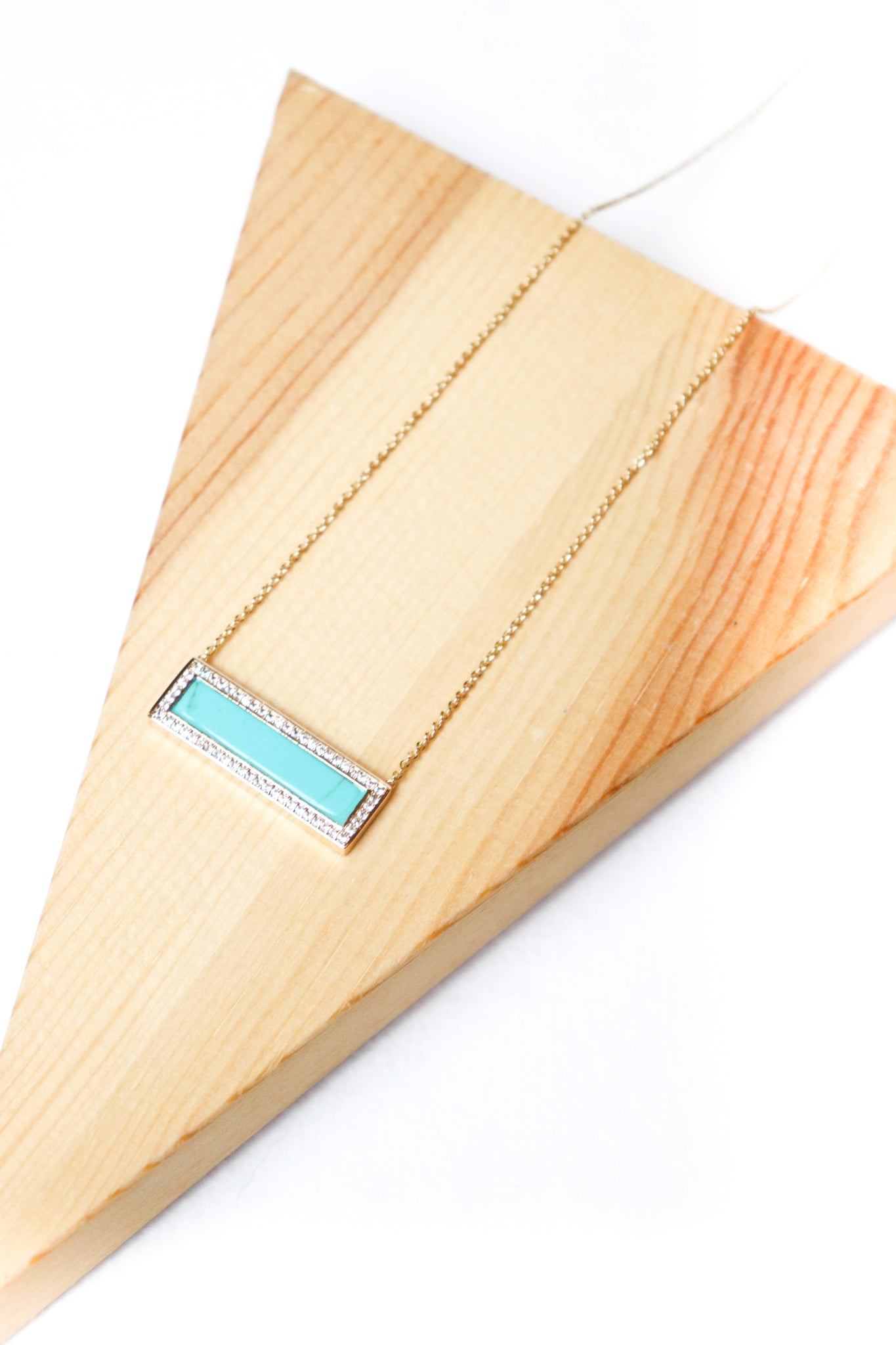 Dainty Rectangle Necklace (Multiple Colors)