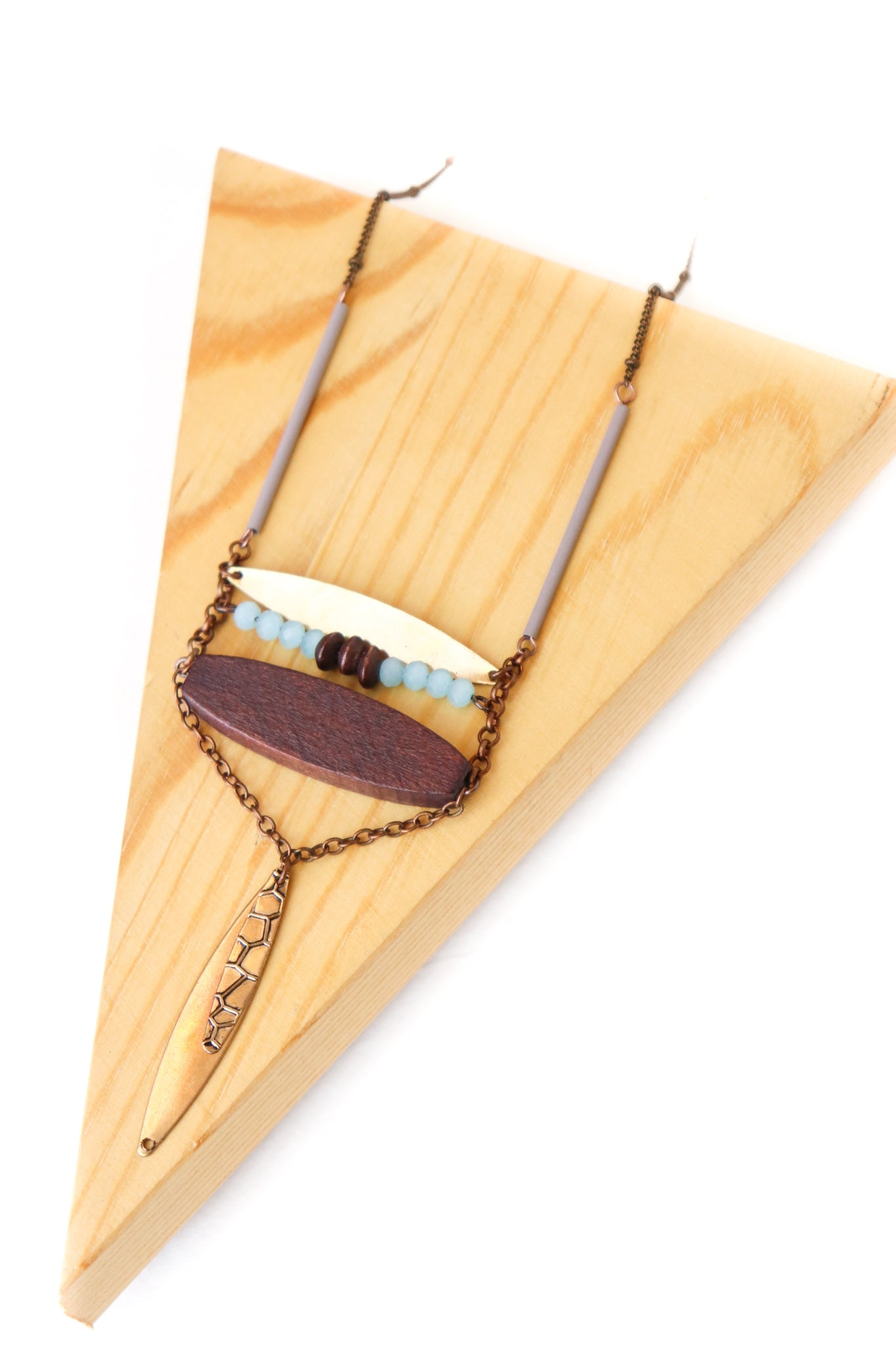 Geometric Oval Necklace