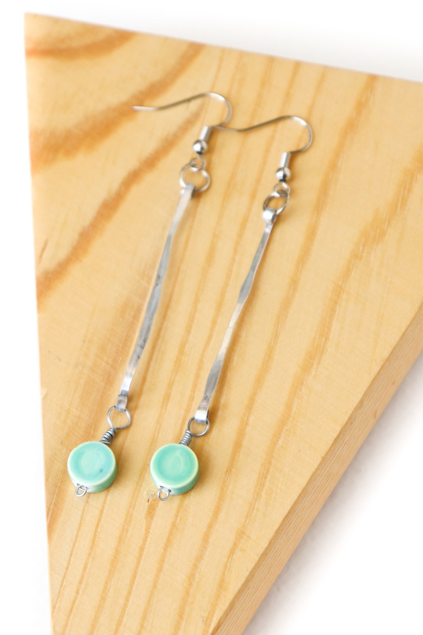 Chain Bar & Bead Earrings (Multiple Styles)
