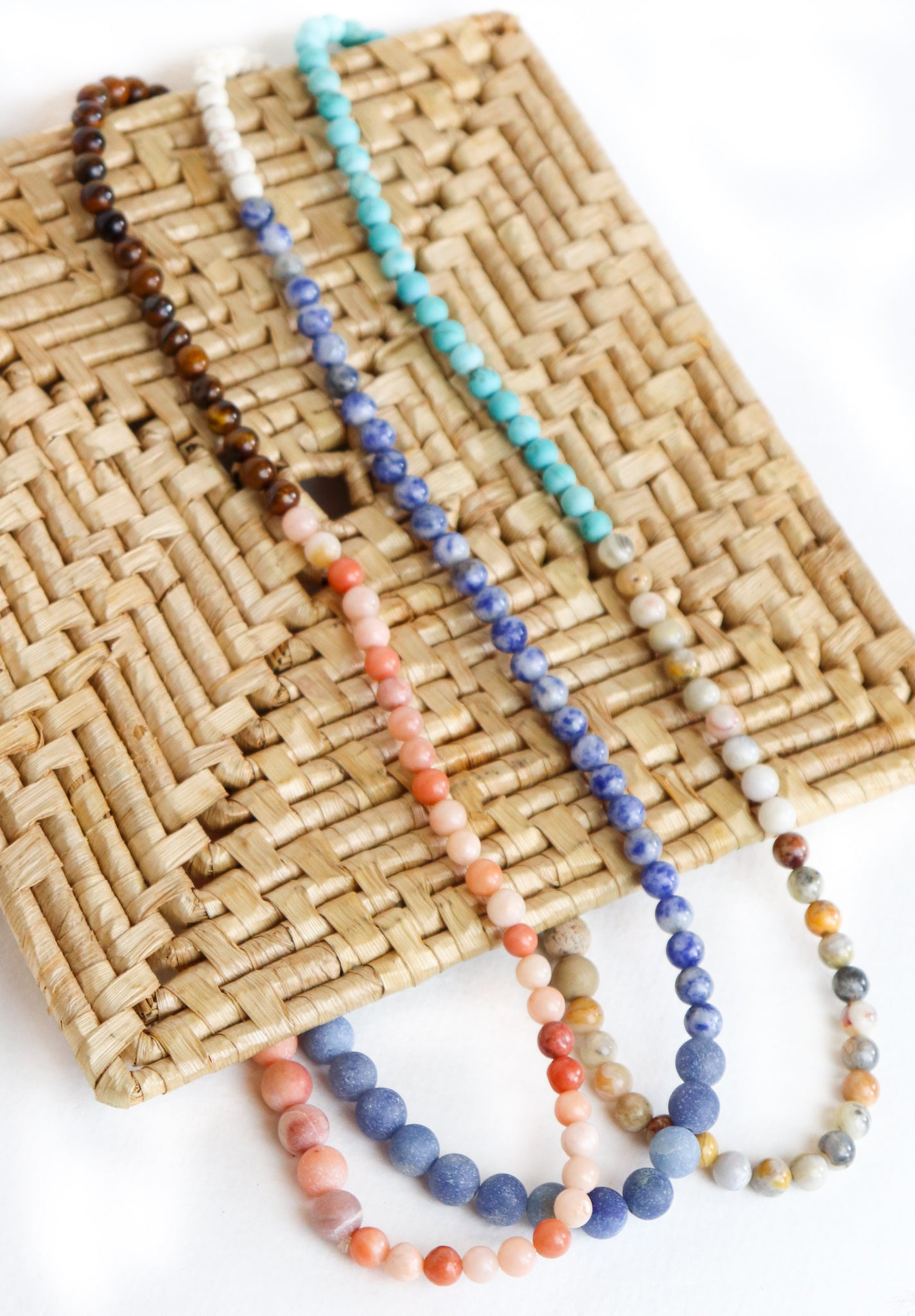 Stretch Beaded Necklace/Bracelet (Multiple Colors)
