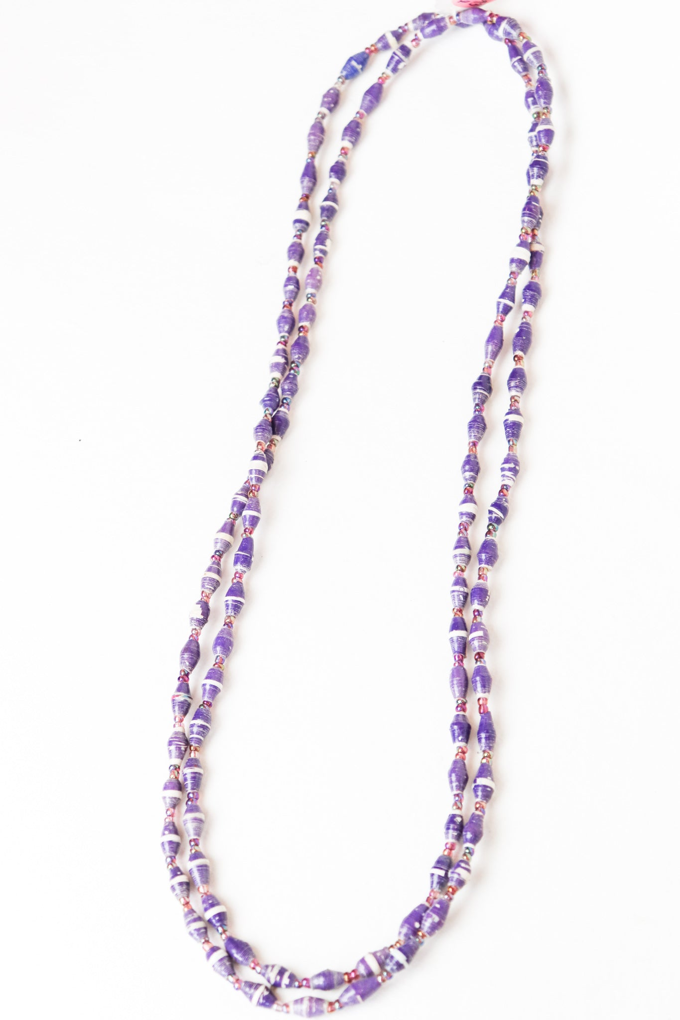 Skinny Beaded Wrap Necklace