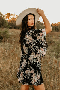 Maude Black Floral Dress
