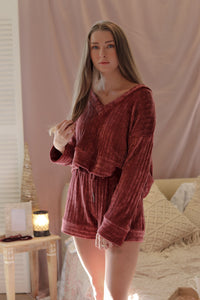 Chenille Ribbed Set Top (Multiple Colors)