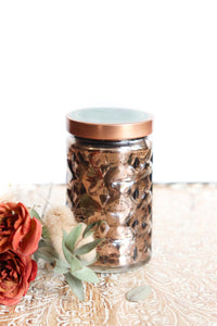 Beveled Glass Cylinder Candle (Multiple Scents)