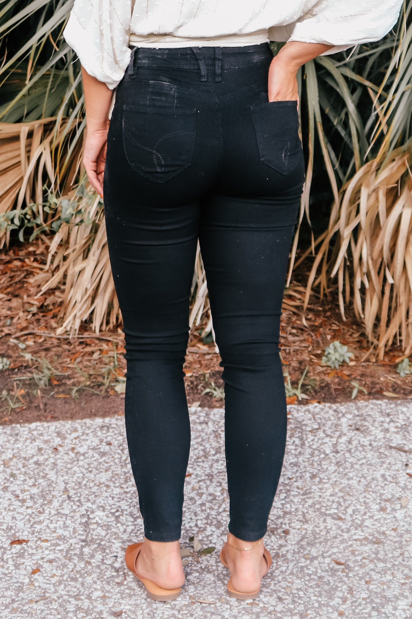 WBB Vintage Skinny Black Denim