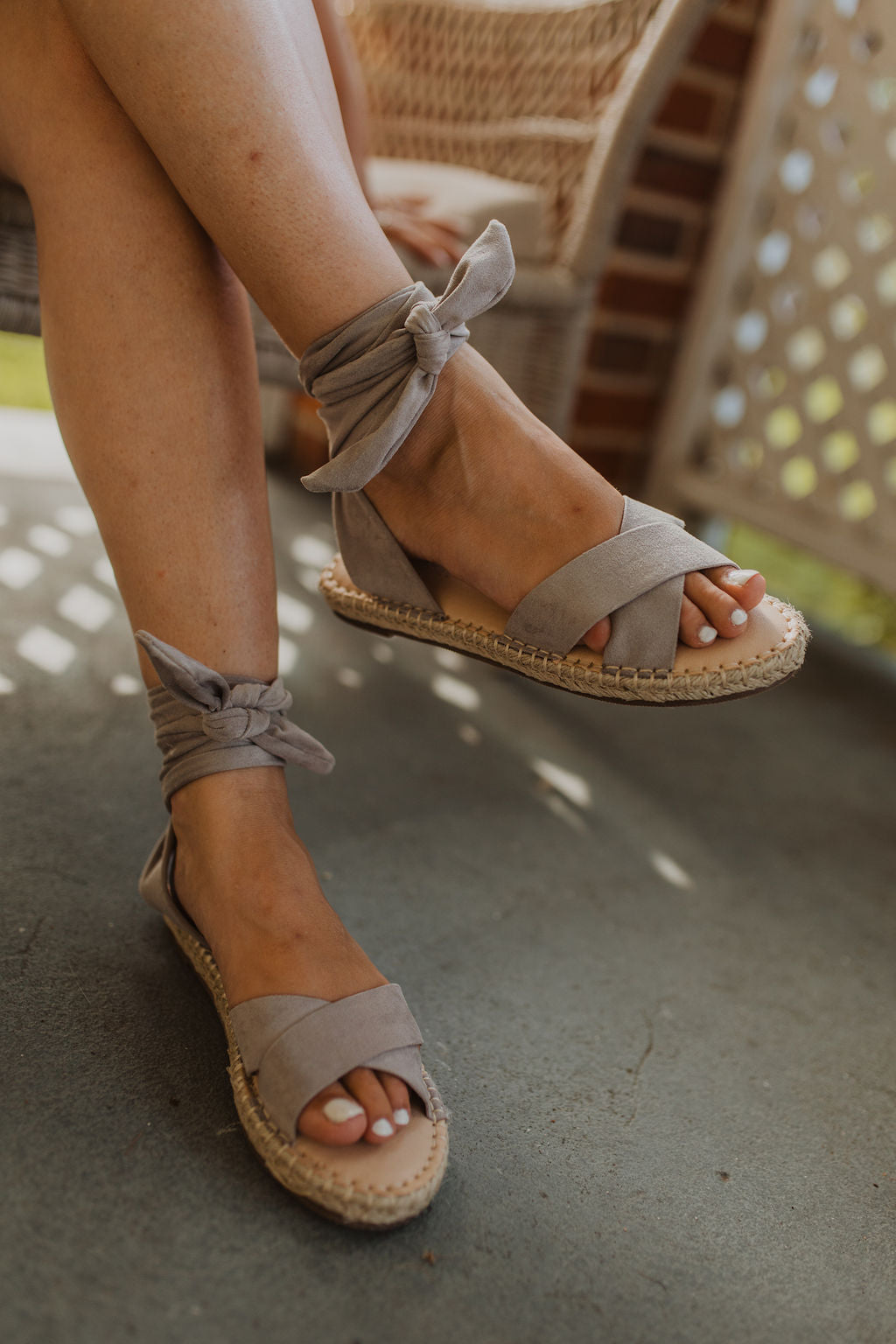 Jenea Lace Up Sandals