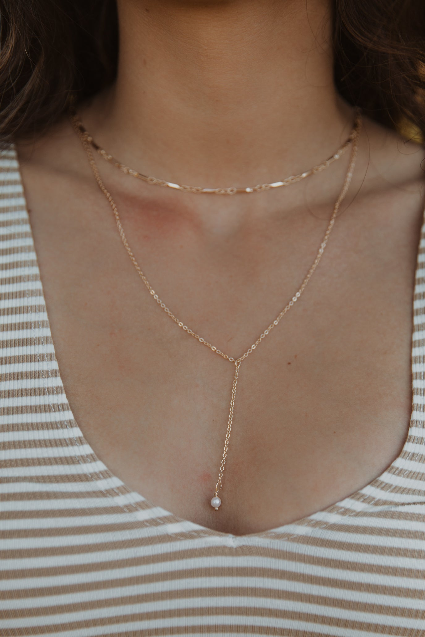 Pearl & Chain Layering Necklace