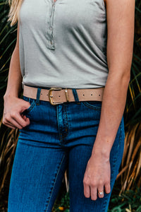 Metal Gold Buckle Belt (Multiple Colors)