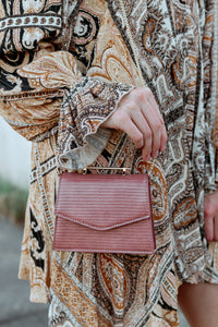 Mini Reptile Blush Crossbody