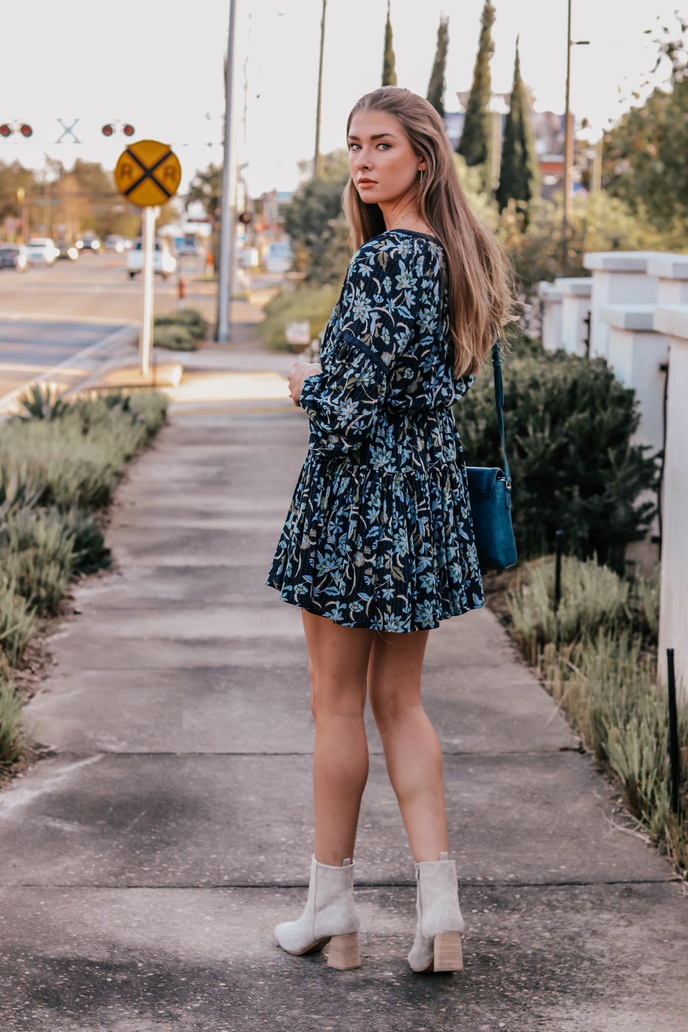 Novalee Floral Navy Dress