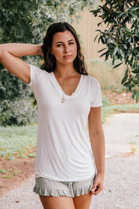 Parma Ivory Trim Detailed Tee