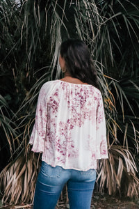 Rayna Pink and Purple Floral Top