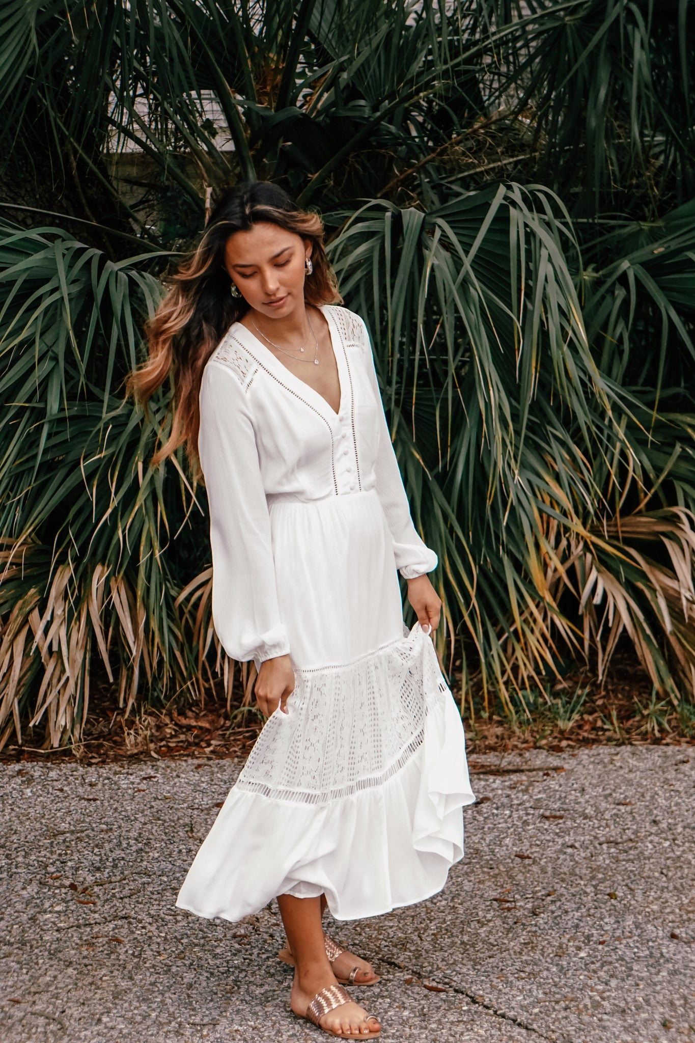 Sacramento White Midi Dress