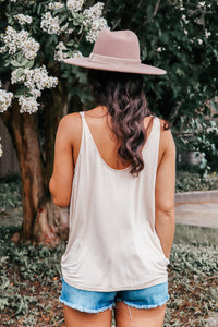 Safi Almond Twist Tank Top