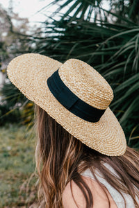 Woven Wide Ribbon Hat