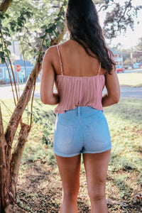 5 Button Cuffed Shorts (Multiple Colors)