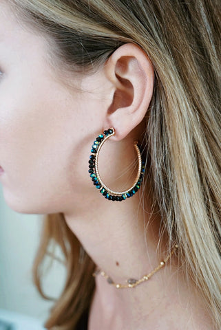Open Beaded Hoops