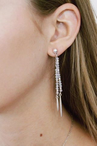 Spike Bead Drop Earrings