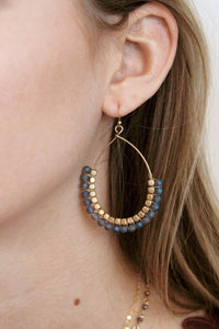 Bead Wrap Teardrop Hoop