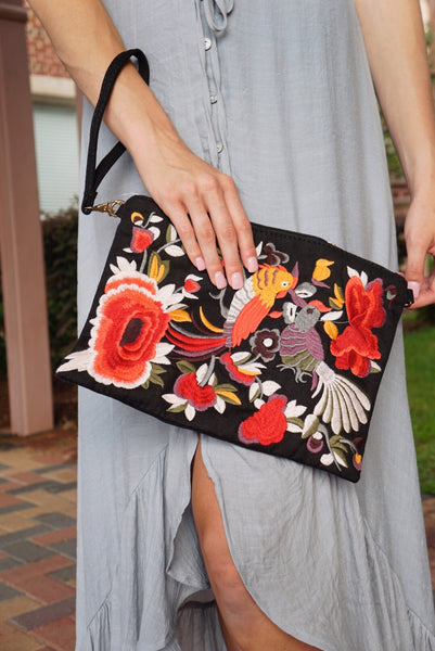 Bird Embroidery Bag