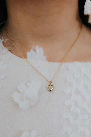 Dainty Heart & Evil Eye Necklace