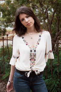 San Marcos Embroidered Top