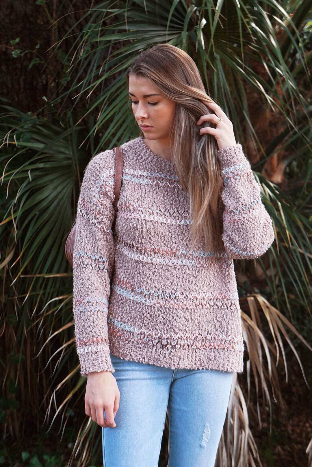 Stitched Comfy Sweater