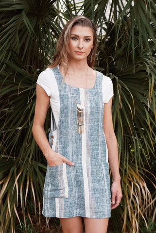 Stripe Overall Dress