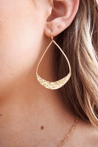 Teardrop Hammered Earring