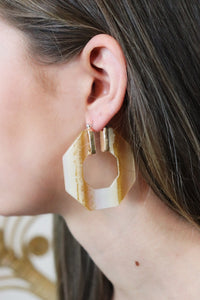 Acetate Octagon Hoops