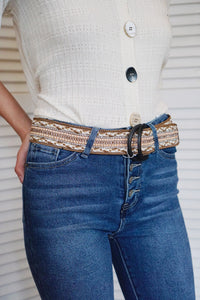 Semi Circle Embellished Belt