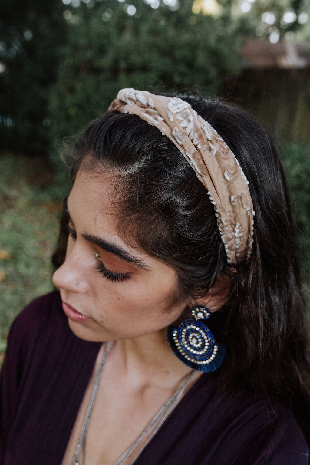 Burnout Velvet Headband