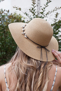 Seashell Straw Hat