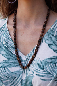 South African Tiger Eye Glass Necklace