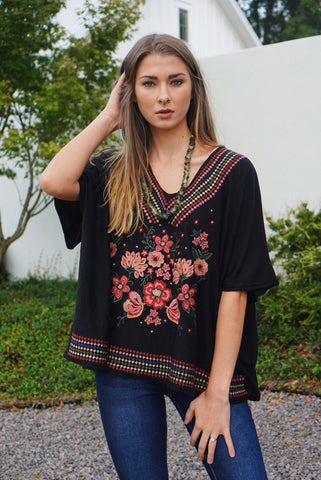 Knit Embroidered Top