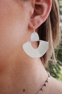 Semi Circle Metal Earring