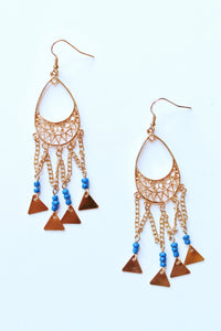 Gold Royal Bead Earring