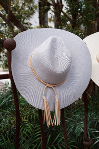 Straw Suede Braid Hat (Multiple Colors)