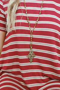 Pattern Plate Necklace