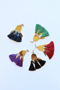 Geometric Tassel Earrings (Multiple Colors)