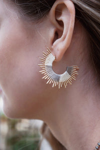 Thread Sunburst Earrings