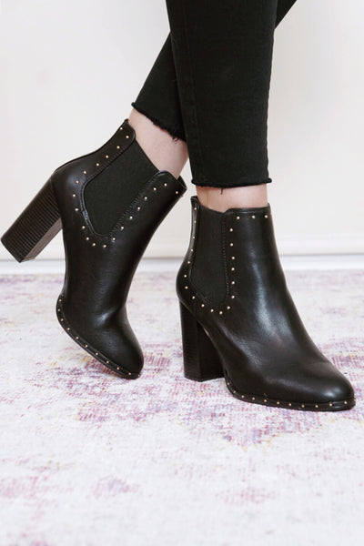 Upside Stud Booties