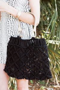 Black Diamond Woven Bag